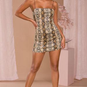Dresses & Skirts - Womens Snake Print Bodycon Mini Dress